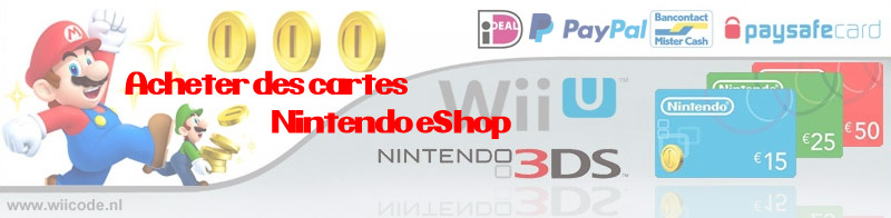acheter des cartes nintendo eshop planete nextgen. Black Bedroom Furniture Sets. Home Design Ideas